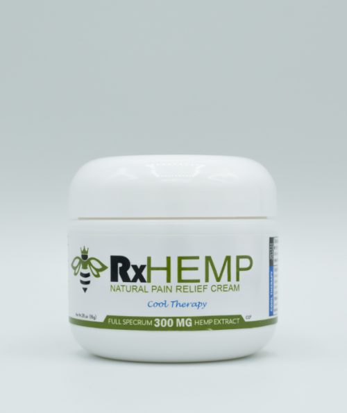 rxhemp-natural-medical-grade-topcial-thc-free-cbd-cream-products-300mg-cbd-cool-therapy- front